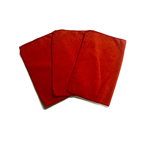 Red MicroFiber Towels